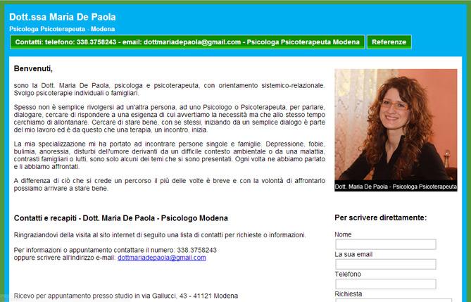 Psicologa Modena - Maria De Paola