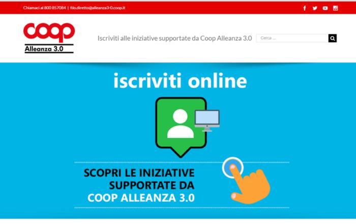 iscrizioni coop alleanza 3.0